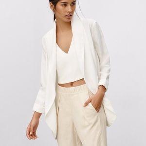 Wilfred White Oversized Blazer / Cardigan